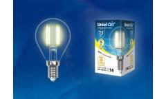 Светодиодная (LED) Лампа FIL (прозрачная) Uniel LED-G45-7,5W/WW/E14/CL Air шар прозр