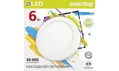 Накладной (LED) светильник Round SDL Smartbuy-6w/6500K/IP20 _круг d110_h28