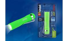 Фонарь Uniel S-LD045-B Green пластик 0,5 Watt LED 1хАА н/к зеленый