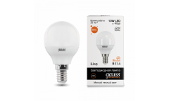 Лампа светодиодная GAUSS _P45_10W/2700K_E14 _шар