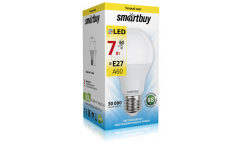 Светодиодная (LED) Лампа Smartbuy-A60-07W/3000/E27