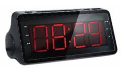 Радиобудильник Supra SA-46FM черный LCD подсв:красная часы:цифровые AM/FM