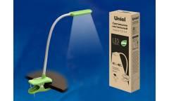 Светильник настольный Uniel LED TLD-554 Green/LED/400Lm/5500K/Dimmer прищепка зеленый