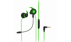 Наушники Ritmix RH-250M Gaming внутриканальные с микрофоном black+green