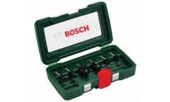 Набор фрез по дереву Bosch 6 НМ-SET (2607019463) d(посад.)=8мм (фрезерные пилы)