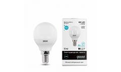 Лампа светодиодная GAUSS _P45_6W/4100K_E14 _шар