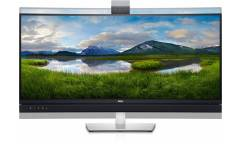 """Монитор Dell 34"""" C3422WE черный IPS LED 8ms 21:9 HDMI M/M Cam матовая HAS Pivot 300cd 178гр/178гр 3440x1440 DisplayPort WQHD USB 11.34кг"""