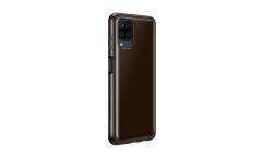 Оригинальный чехол (клип-кейс) для Samsung Galaxy A12  clear cover Черный  (EF-QA125TBEGRU)