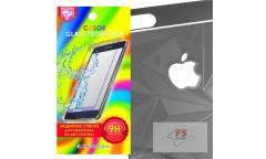 Защитное стекло цветное Krutoff Group для iPhone 6/6S на две стороны с 3D-рисунком (black)