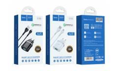 CЗУ Hoco C12Q Smart QC3.0 + micro (белый)