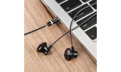 Наушники Hoco M18 внутриканальные c микрофоном (черный)