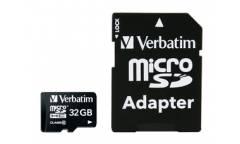 Карта памяти Verbatim MicroSDHC 32GB Class 10+adapter