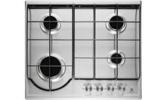 Варочная газовая поверхность Electrolux GPE 262FX серебристый,4конфорки,реш сталь,газконтроль,автопо