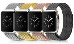Ремешок Smart Apple Watch Milano 42 mm черный (упаковка картон)