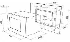 Микроволновая печь Maunfeld MBMO.20.2PGB 20л. 1250Вт черный (встраиваемая)