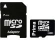 Карта памяти Prima MicroSDHC 8GB Class 10+adapter