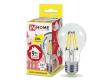 Лампа светодиодная ASD LED-A60-deco 9Вт 230В Е27 3000К 810Лм прозрачная IN HOME