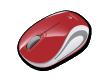 Компьютерная мышь Logitech Wireless Mini Mouse M187 красная