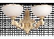 Бра_DE FRAN_ YP2-3236-2WCR_E27 _2*40Вт КЛАССИКА,  ант. кремовый, стекло.с узором