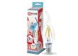 Лампа светодиодная ASD LED-СВЕЧА НА ВЕТРУ-deco 7Вт 230В Е14 4000К 630Лм прозрачная IN HOME