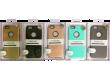 Силиконовая накладка +  пластик iphone 7 Plus золото в уп.